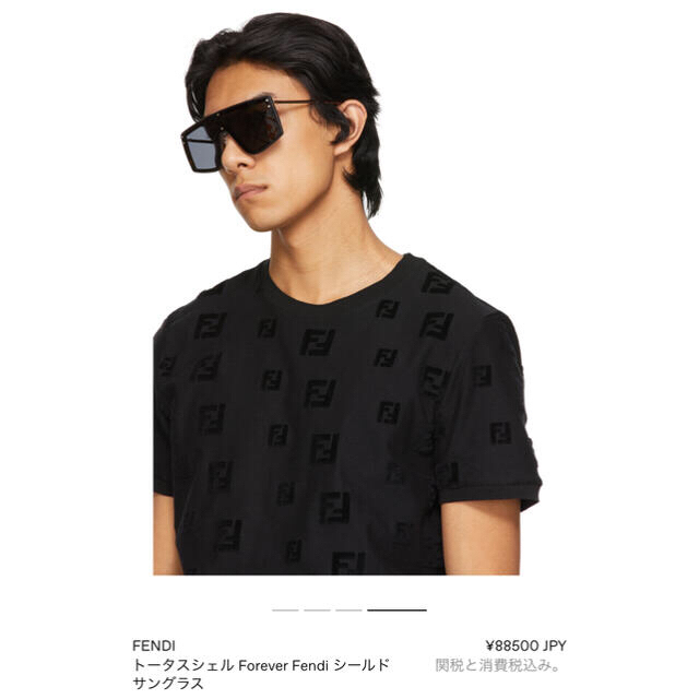 FENDI(フェンディ)の新品FENDI トータスシェル Forever Fendi シールド サングラス メンズのファッション小物(サングラス/メガネ)の商品写真