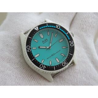 セイコー(SEIKO)のALBA 腕時計 ダイバータイプ レトロ グリーン文字盤 50m(腕時計(アナログ))