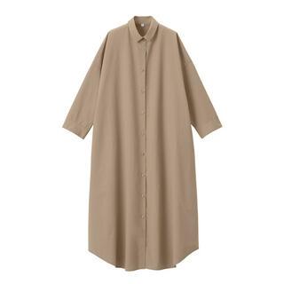 MUJI (無印良品) - 新品 無印良品  インド綿高密度織りシャツワンピース  ONE SIZE