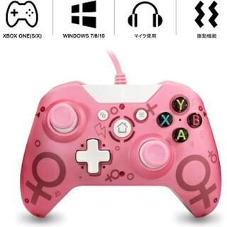 エックスボックス(Xbox)の【新品未使用】Xbox one コントローラー 有線 PC 振動機能搭載 ピンク(家庭用ゲーム機本体)