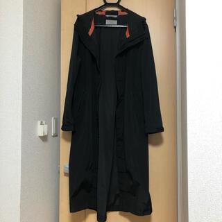 ザラ(ZARA)のZARA MAN オーバーサイズフーデッド ロングコート BLACK S(モッズコート)