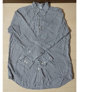 ユニクロ(UNIQLO)のユニクロ  チェック 長袖シャツ  メンズ  L(シャツ)