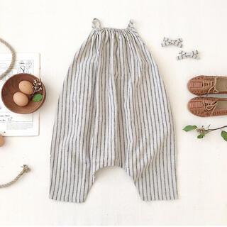 Caramel baby&child  - soor ploom*Ines Romper Ticking Stripe