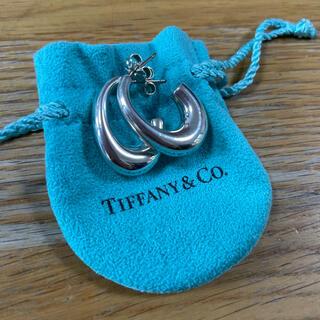 Tiffany & Co. - ティファニー ハーフフープピアス シルバー