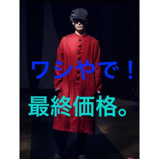 Yohji Yamamoto - yohjiyamamoto 21ss  負の遺産赤麻義眼ボタンコート