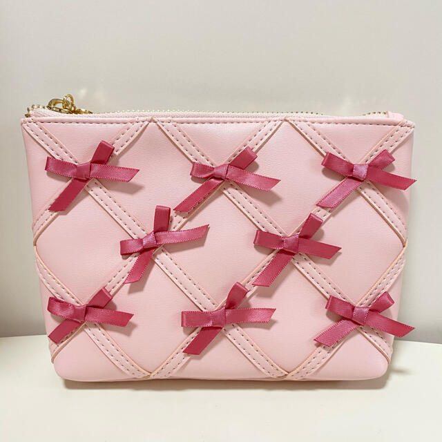 Maison de FLEUR(メゾンドフルール)の新品未使用♡メゾンドフルール♡リボンリボンリボンポーチ ピンク レディースのファッション小物(ポーチ)の商品写真