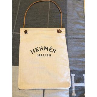 Hermes - 美品 エルメス アリーヌ GM  キャンバス 男女兼用ショルダーバッグ