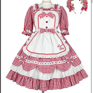 Angelic Pretty - Heart cafeワンピースセット