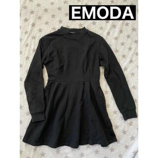 EMODA - EMODA スウェットワンピース ブラック