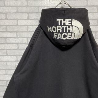 THE NORTH FACE - 【希少サイズ】 ザノースフェイス ジップアップパーカー 刺繍 フーディー 黒