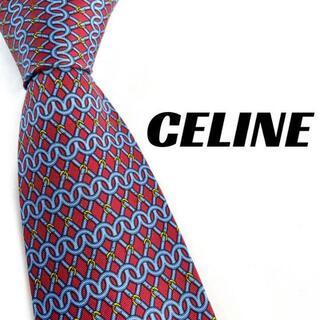 celine - 【1894】美品!CELINE セリーヌ ネクタイ ブランド レッド系