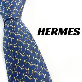 Hermes - 【1892】美品!HERMES エルメス ネクタイ ブルー ブランド