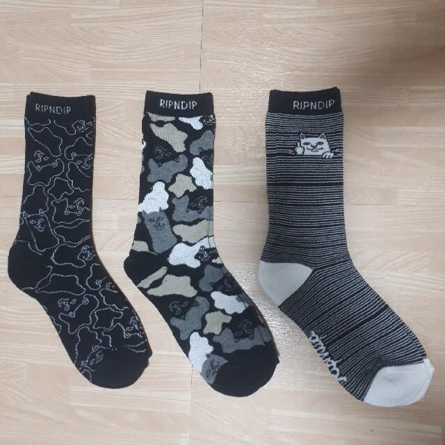 3足セット リップンディップ 靴下 ソックス RIPNDIP  メンズのレッグウェア(ソックス)の商品写真