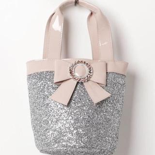 スワンキス(Swankiss)のSwankiss SG glitter ribbon BAG(ハンドバッグ)