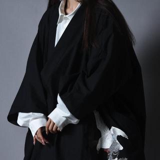 Yohji Yamamoto - Bishool Old Cotton KIMONO Drape Haori 鳩
