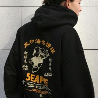 シー(SEA)の【Mサイズ】 F-H-H Uncle FENZ HOODIE black(パーカー)