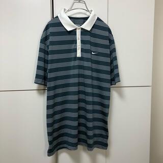 NIKE - NIKE GOLF ナイキゴルフ ブルーグリーン系ボーダーポロシャツ