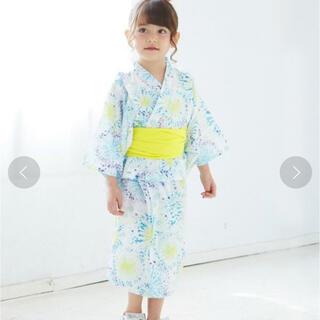 プティマイン(petit main)の美品完売♡ アプレレクール 花火柄 浴衣 110 プティマイン(甚平/浴衣)