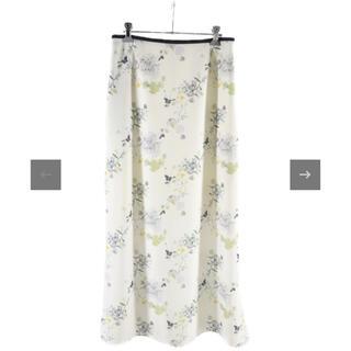 マメ(mame)のFloral Print Skirt フローラルプリントスカート mame(ロングスカート)
