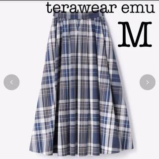 しまむら - しまむら  terawear emu チェックロングスカート 中紺 Mサイズ
