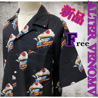 オルターべノム(ALTER VENOMV)の新品タグ付き☆オルターベノム プリントオープンカラーシャツ フリーサイズ(シャツ)