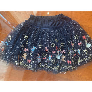 mezzo piano - メゾピアノ  刺繍チュールスカート