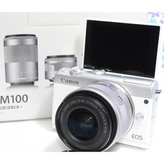 Canon - 極上美品★Canon EOS M100★Wi-Fi機能搭載★届いてすぐ使える★
