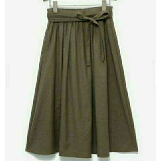 プラステ(PLST)のPLST プラステ リネン素材ひざ丈スカート S(ひざ丈スカート)