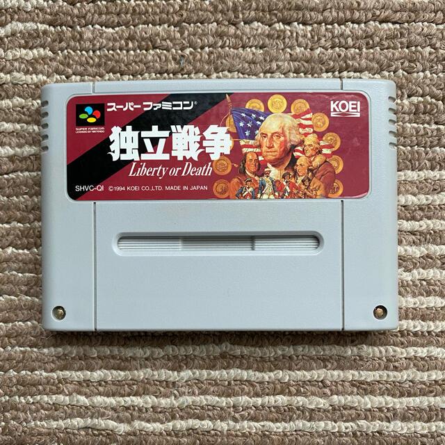 スーパーファミコン(スーパーファミコン)のSFC 独立戦争 エンタメ/ホビーのゲームソフト/ゲーム機本体(家庭用ゲームソフト)の商品写真
