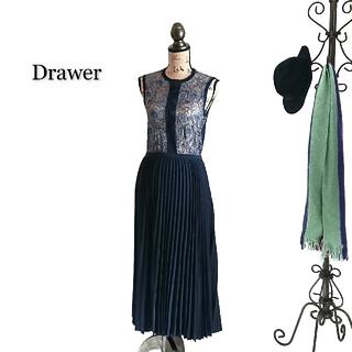 Drawer - Drawer ドゥロワー ワンピース レース プリーツ