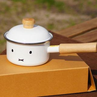フジホーロー(富士ホーロー)のミッフィー  フェイスデザイン 富士ホーロー 片手鍋 ソースパン(鍋/フライパン)