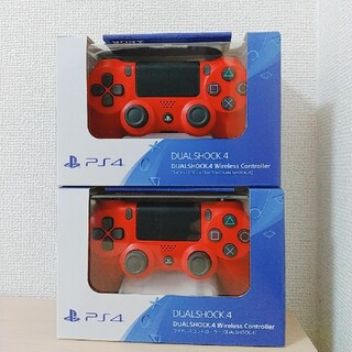 PlayStation4 - 【新品未使用】PS4 コントローラー DUALSHOCK 4 マグマレッド 純正