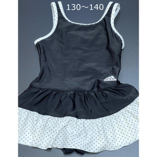 adidas - アディダス 女の子 水着 ワンピース 140 130 水玉 ドット柄