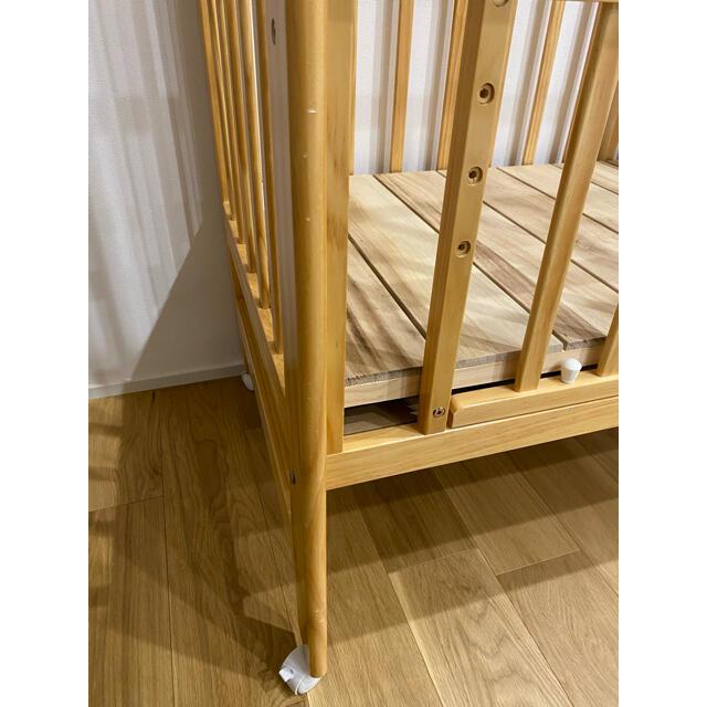 カトージ ハイシートミニベビーベッドセット キッズ/ベビー/マタニティの寝具/家具(ベビーベッド)の商品写真