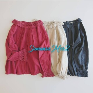 SM2 - 昨年購入★サマンサモスモスSM2★レース衿ブラウス