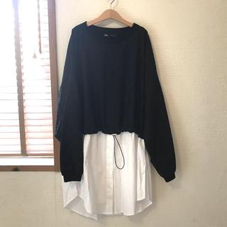 ZARA - 新品 ZARA   ドッキングシャツ M  完売品