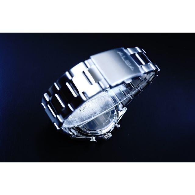 ALBA(アルバ)のALBA逆輸入モデルメンズウォッチ ダークブルーフェイス クロノグラフ メンズの時計(腕時計(アナログ))の商品写真