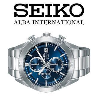 アルバ(ALBA)のALBA逆輸入モデルメンズウォッチ ダークブルーフェイス クロノグラフ(腕時計(アナログ))