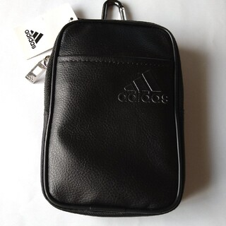 adidas - アディダスゴルフ:ゴルフポーチ(カラビナ付き):黒