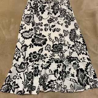ジェラールダレルの麻のスカート(ひざ丈スカート)