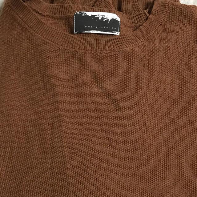 antiqua(アンティカ)のゆるニット 綿100%  チェスナット レディースのトップス(ニット/セーター)の商品写真