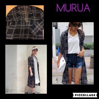 ムルーア(MURUA)のマルチカラーロングチェックシャツ(シャツ/ブラウス(長袖/七分))