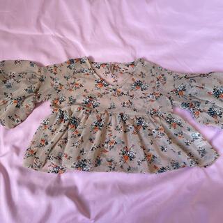 アズールバイマウジー(AZUL by moussy)のAZUL by MOUSSY 女の子チュニック size 110(Tシャツ/カットソー)