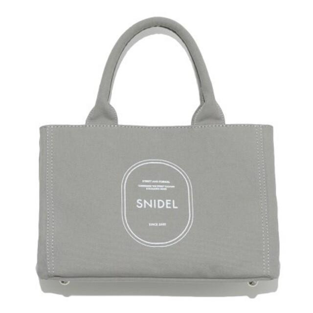 snidel(スナイデル)の新品タグ付 キャンパスエコバッグ 灰色 SNIDEL レディースのバッグ(トートバッグ)の商品写真