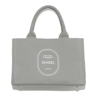 スナイデル(snidel)の新品タグ付 キャンパスエコバッグ 灰色 SNIDEL(トートバッグ)