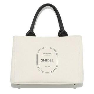 スナイデル(snidel)の新品タグ付 キャンパスエコバッグ 白 SNIDEL(トートバッグ)