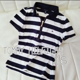 TOMMY HILFIGER - TOMMY HILFIGER ボーダー スキッパー ポロシャツ XS