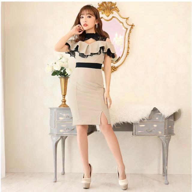dazzy store(デイジーストア)のフリルタイトドレス ミニドレス レディースのフォーマル/ドレス(ミニドレス)の商品写真