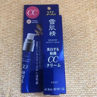 コーセー(KOSE)の雪肌精 ホワイト CCクリーム 01 やや明るい自然な肌色(30g)(化粧下地)