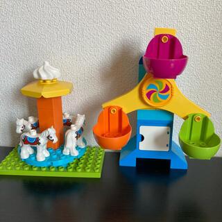 Lego - LEGO デュプロ  遊園地 観覧車 メリーゴーランド